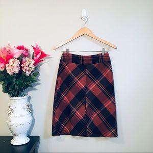THE LIMITED Rustic Burnt Orange A-Line Skirt